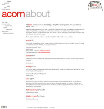 Acorn Photo About