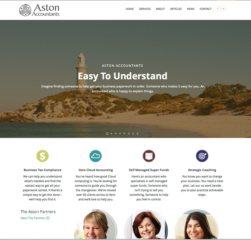 Aston Accountants Website Home
