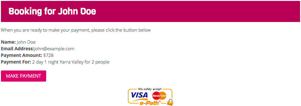 Payment Link Example