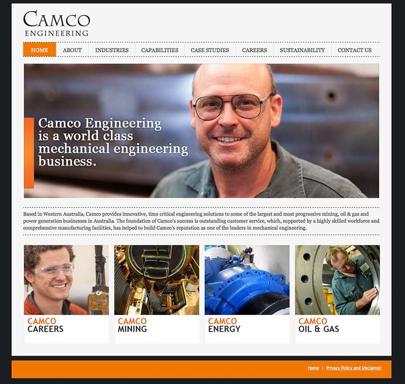 Camco Engineering Website Home