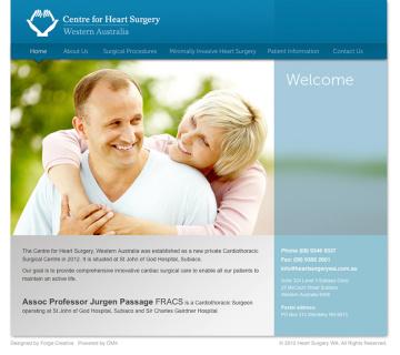 Centre for Heart Surgery Website-Home