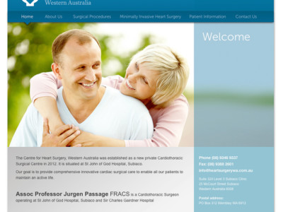 Centre for Heart Surgery Website-Home