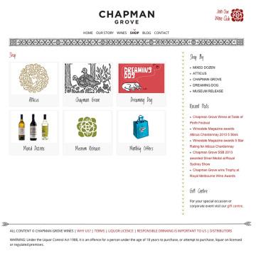Chapman Grove Winery Online Shop