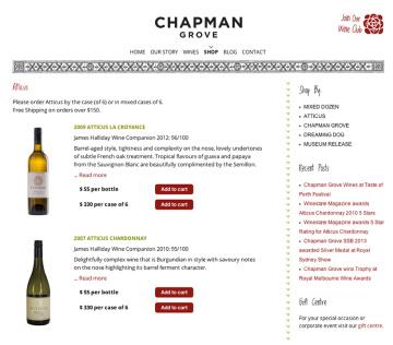 Chapman Grove Shop Wines