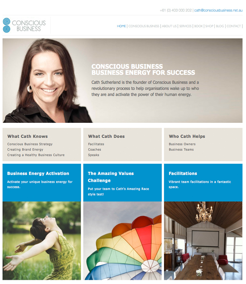 Conscious Business Website Home