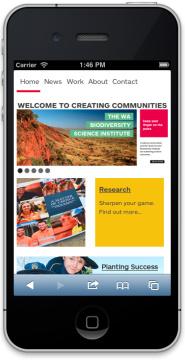 Creating Communities Mobile (iPhone)