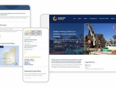 Duketon Mining Responsive Graphic