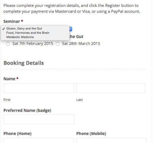 Enquiry Form with PayPal