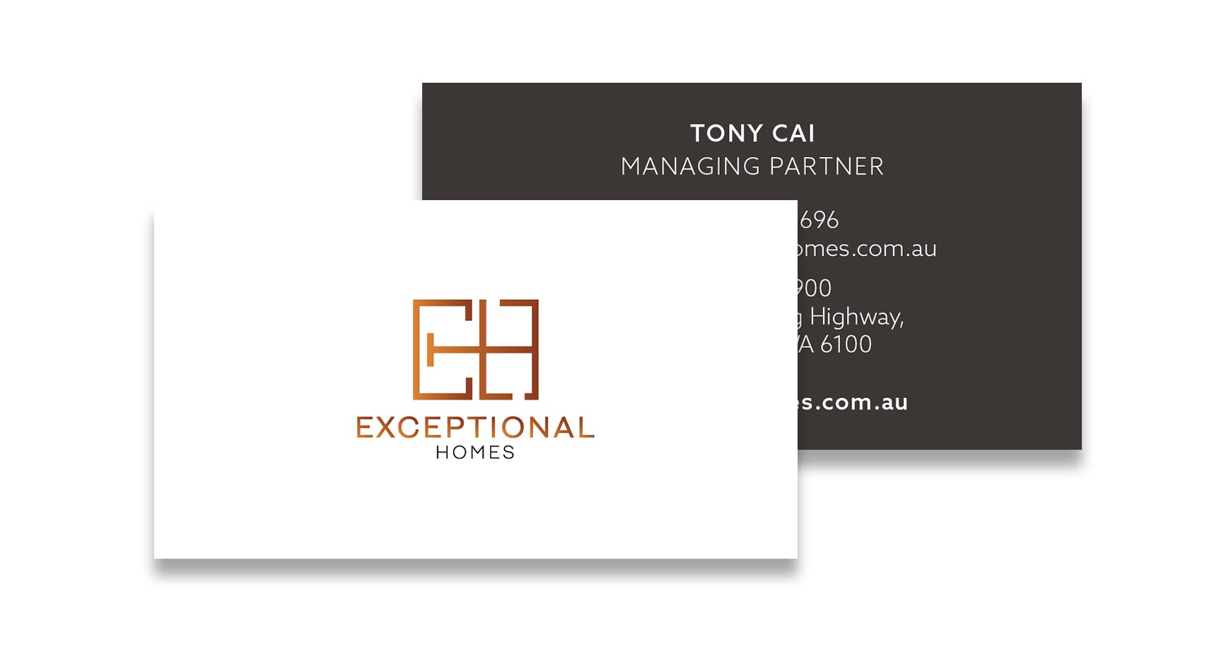 Exceptional Homes Logo & Business Card