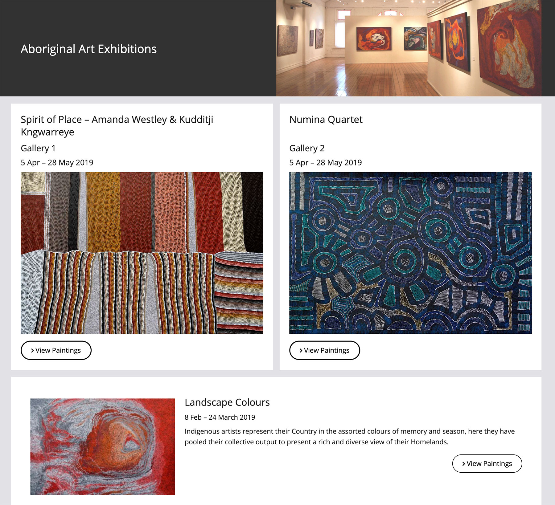Japingka Aboriginal Art Gallery Exhibitions