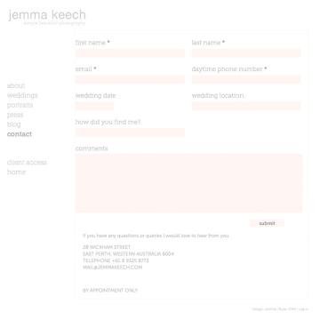 Jemma Keech Photography Contact