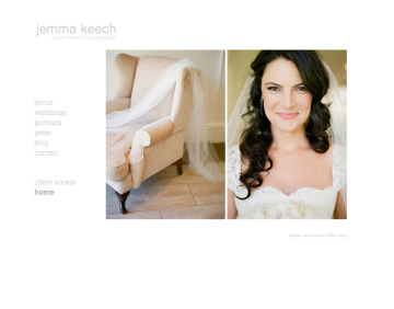 Jemma Keech Photography Website Home