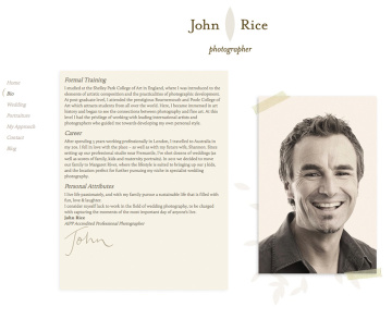 John Rice Photographer Bio