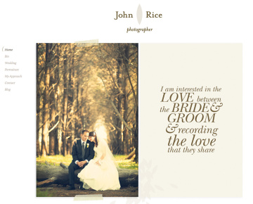 John Rice Photographer Website Home