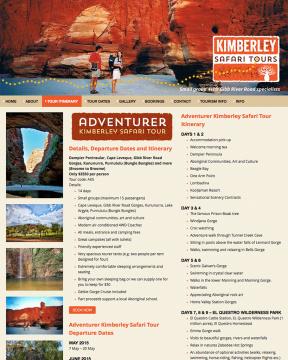 Kimberley Safari Tours Itinerary