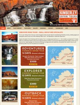 Kimberley Safari Tours Website Home