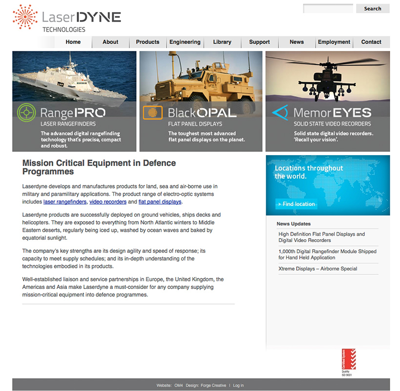 Laserdyne Engineering Website Home