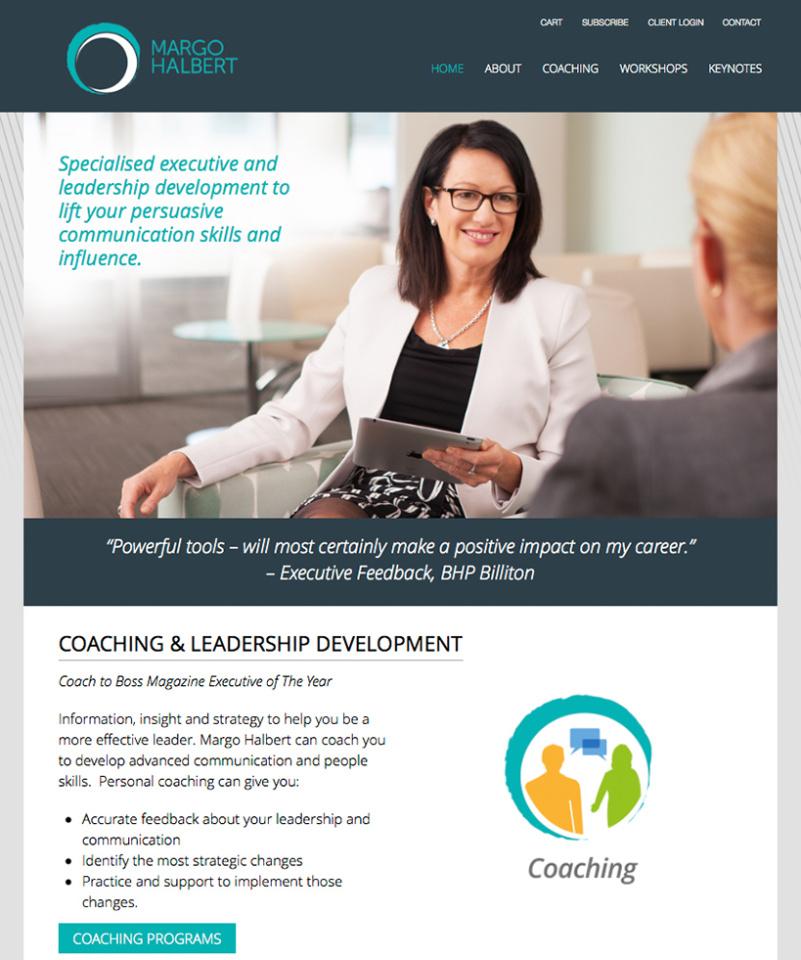 Margo Halbert Executive Leadership Website Home