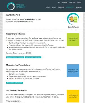 Margo Halbert Workshops