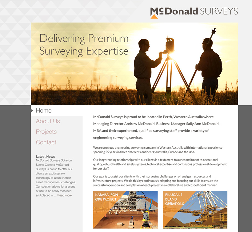 McDonald Engineering Surveys Website Home