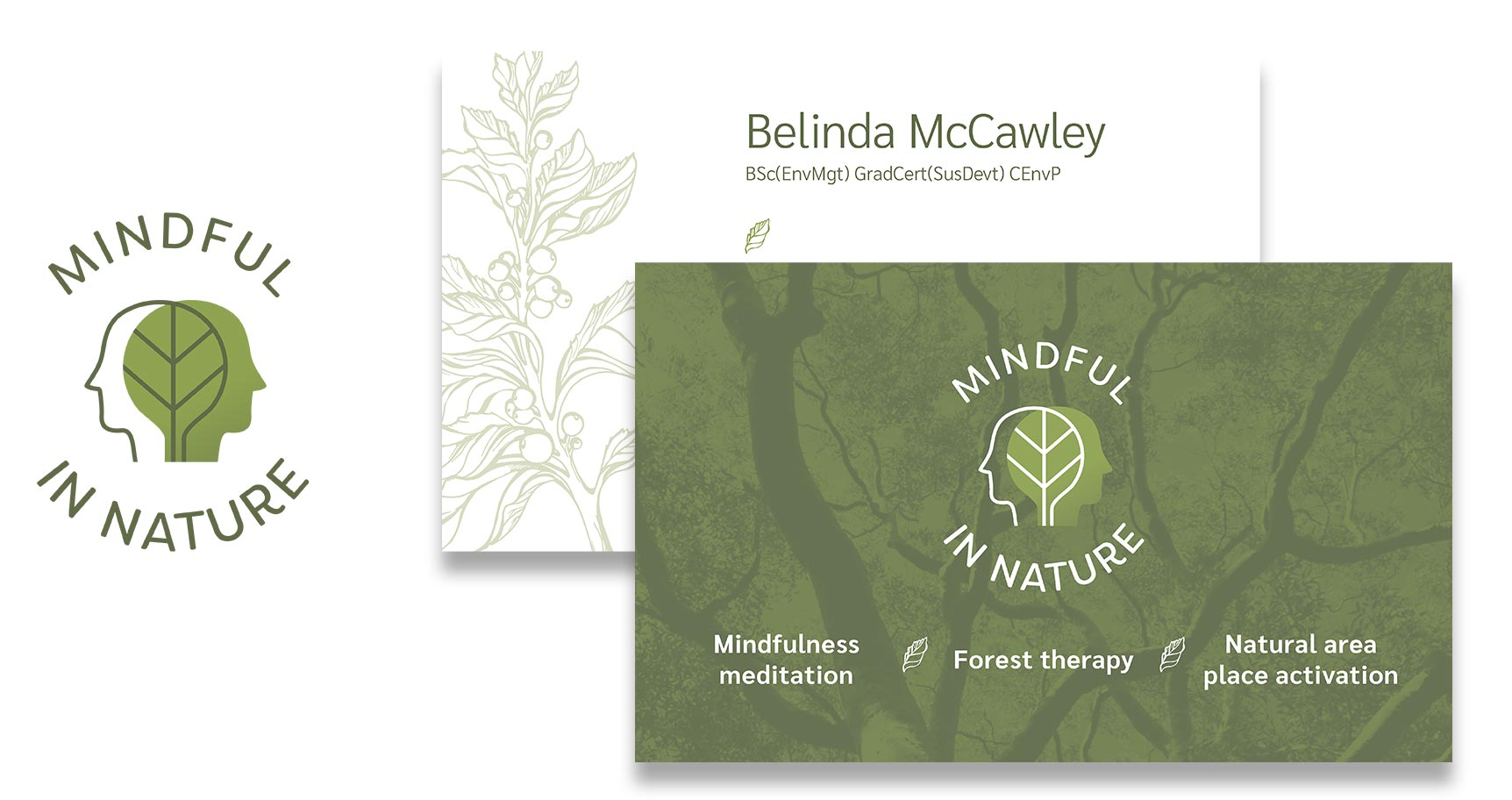Mindful In Nature Logo & Business Card