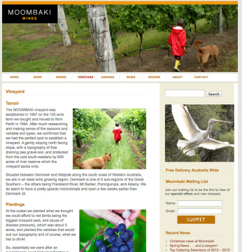 Moombaki Wines About