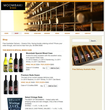 Moombaki Wines Online Shop