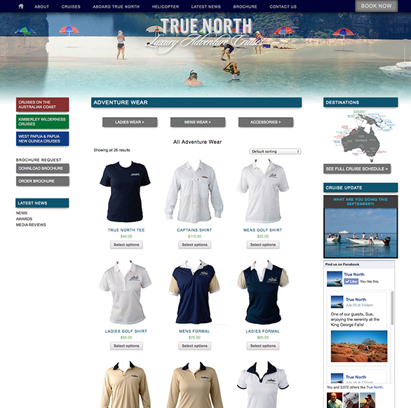 North Star Cruises Online Shop
