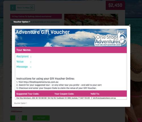 One Stop Adventures Tour Gift Vouchers