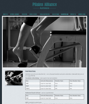 Pilates Alliance of Australasia Classified Ads