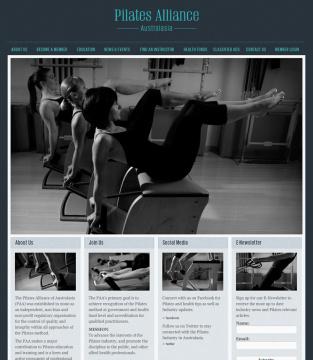 Pilates Alliance of Australasia Website Home