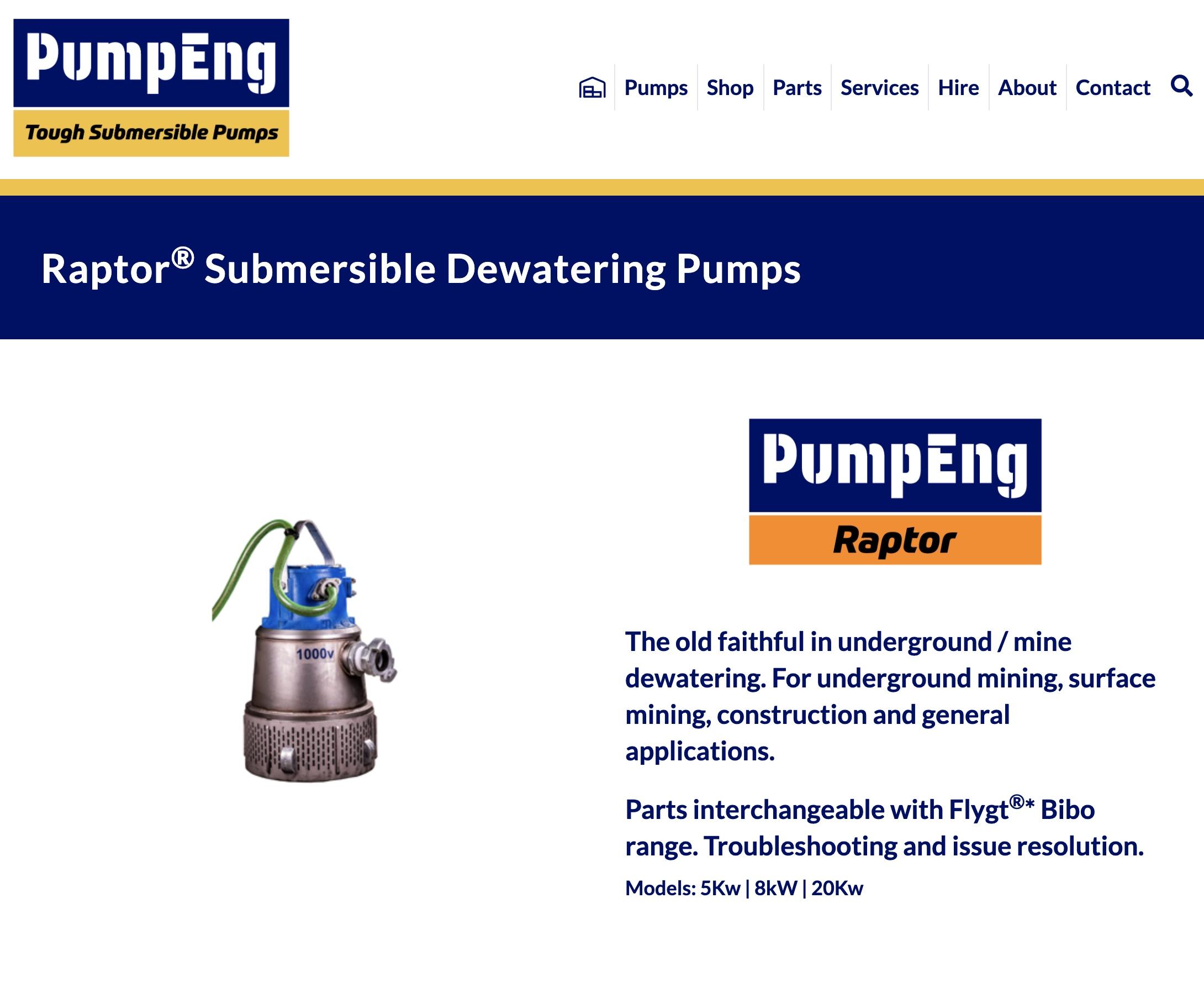 PumpEng - RaptorPump