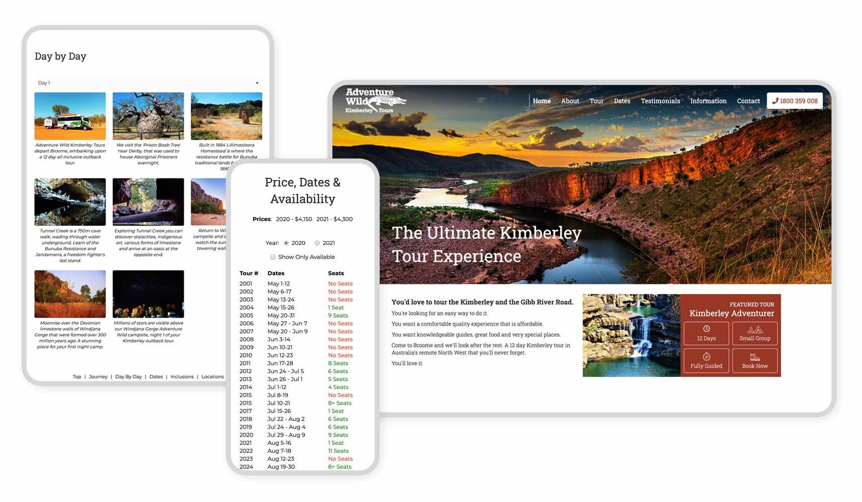 Responsive Graphic for Adventure Wild Tours