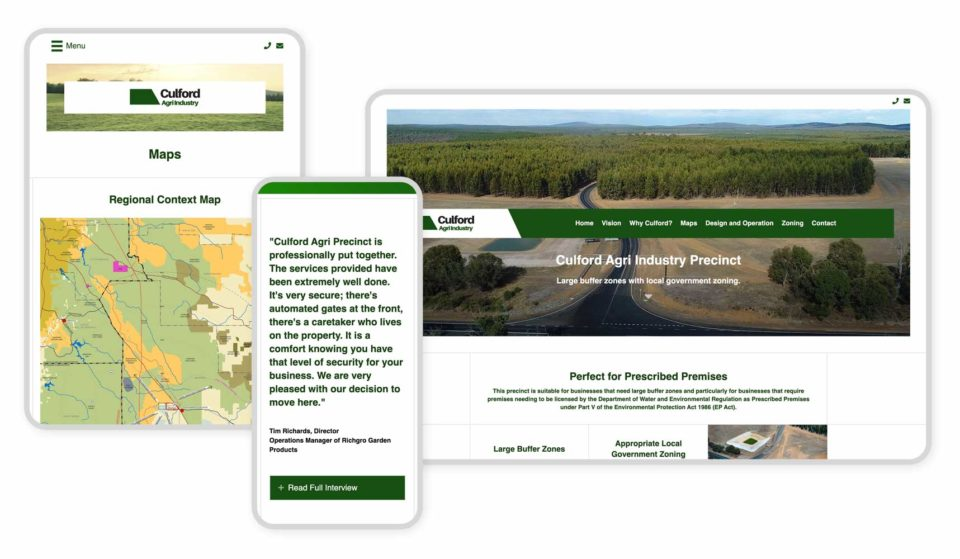 Responsive Graphic - Culford Agri Industry Precinct