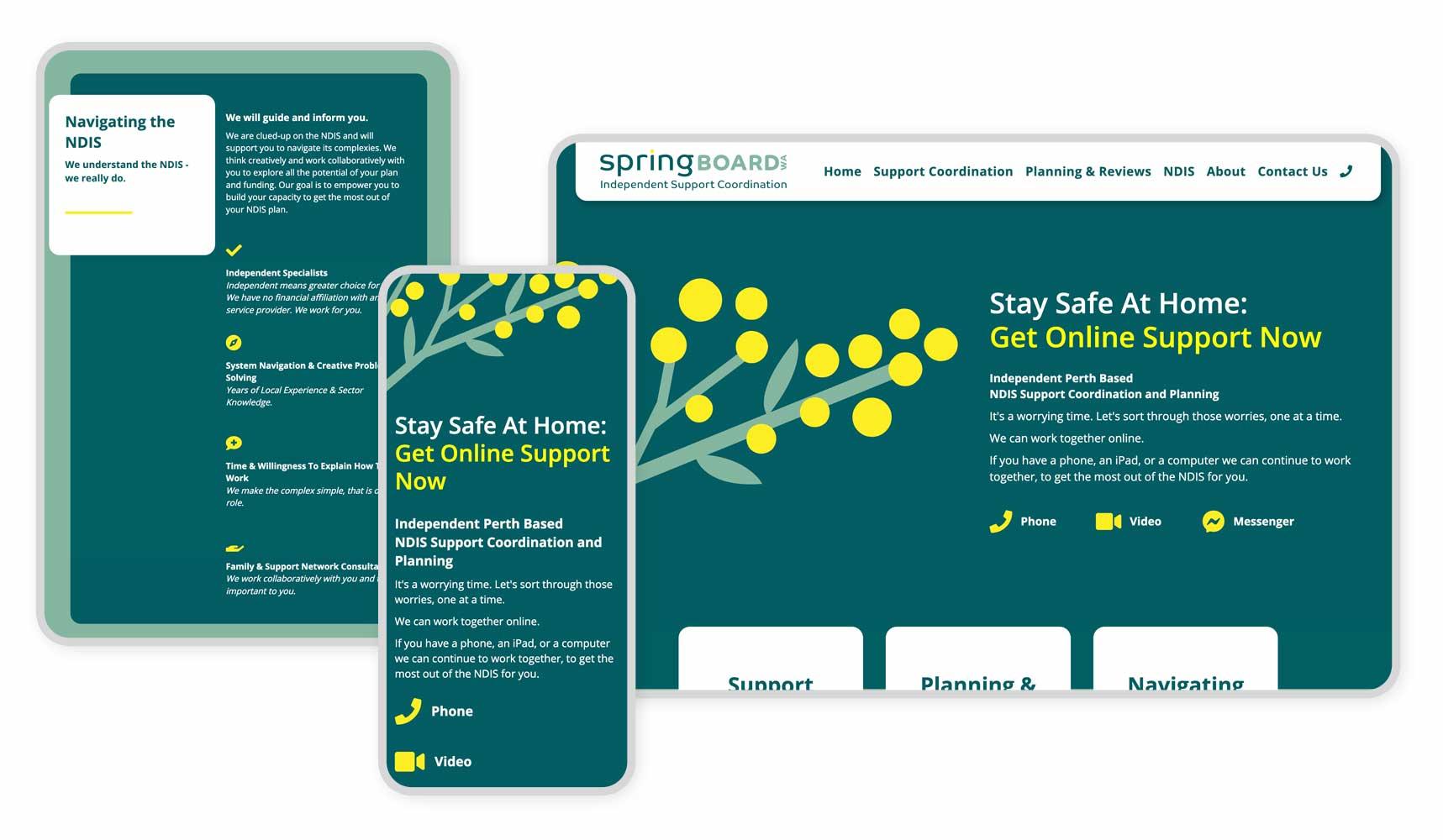 Springboard WA Responsive Graphic
