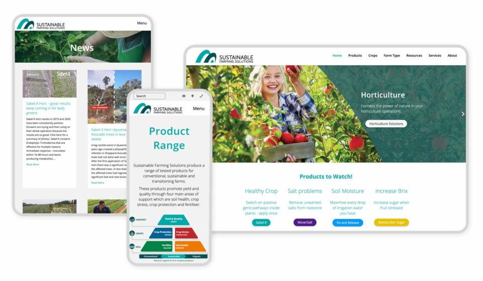 Responsive Graphic Sustainable Farming Solutions