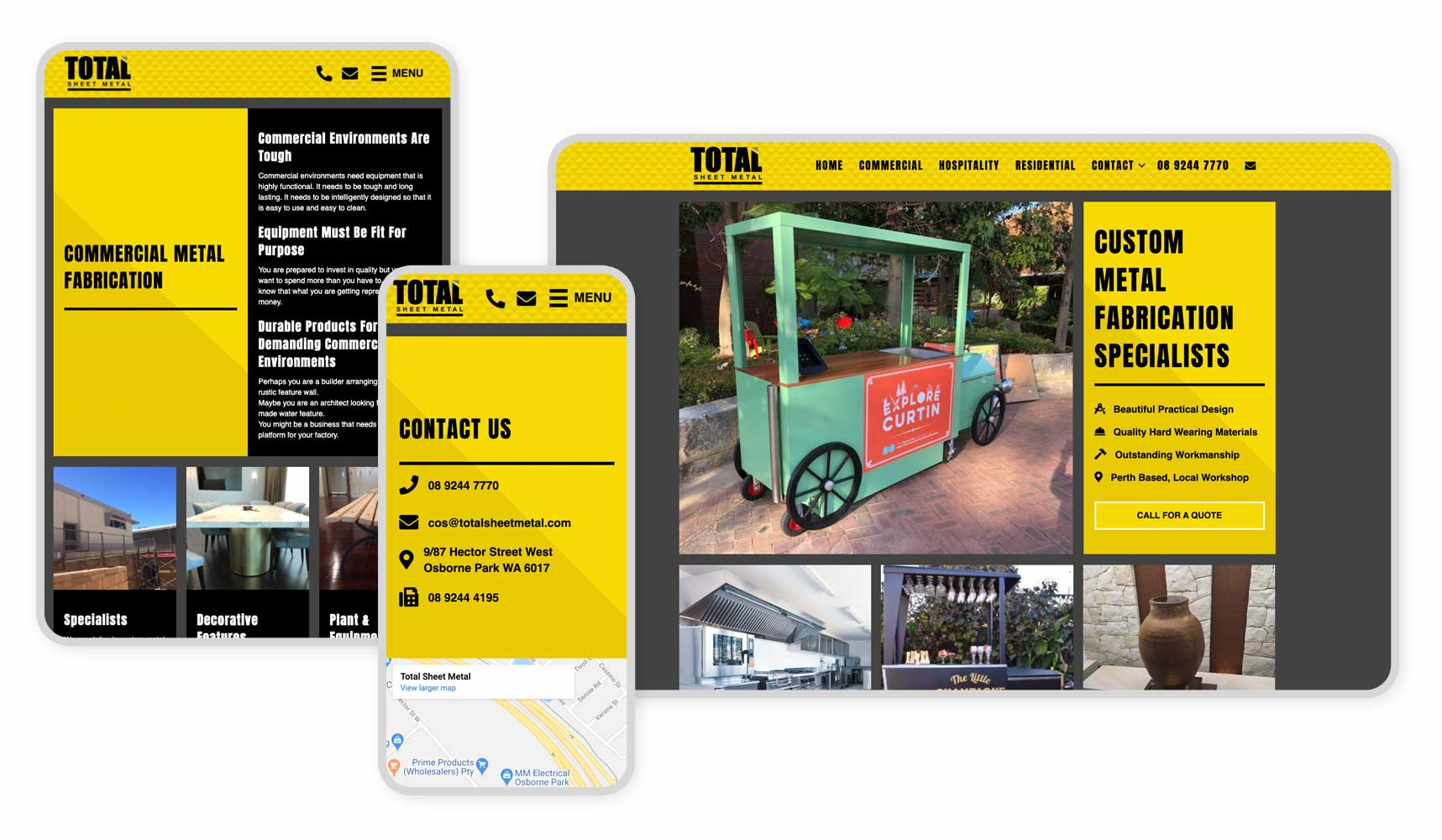 Total Sheet Metal Website