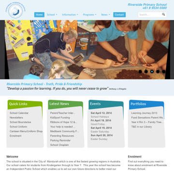 Riverside Primary School Website Home