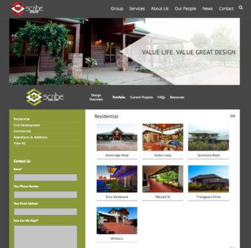 Scribe Group - Design Portfolio Page