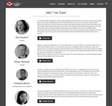 Scribe Group - Our Team Page