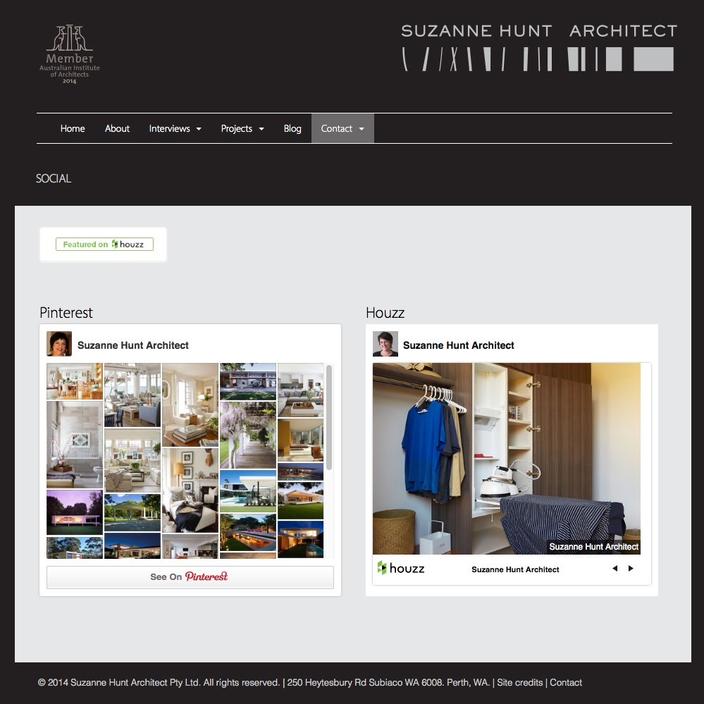 Social Media Feed Suzanne Hunt Architect
