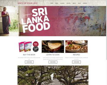 Sri Lanka Food Website Home