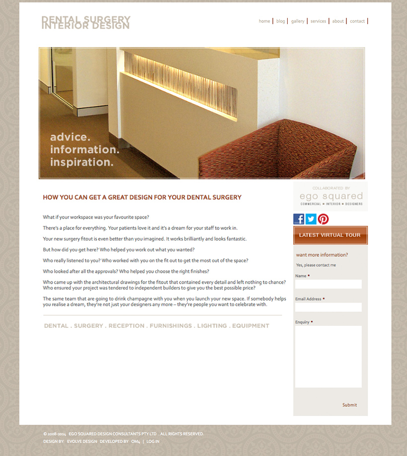 Surgery interior design om4 portfolio for Home design websites