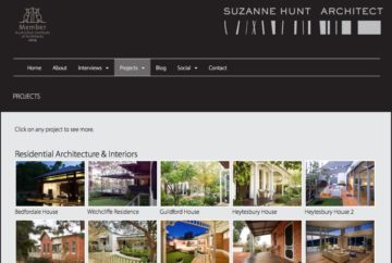 Suzanne Hunt Architect Web Projects Summary
