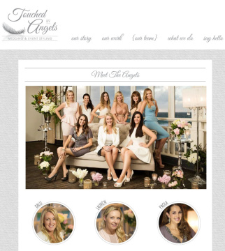 Touched By Angels Wedding & Event Stylist Website Team