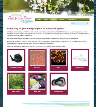 Woodvale Fish and Lily Farm Online Shop