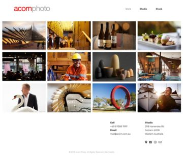 Acorn Photo Website Home Page