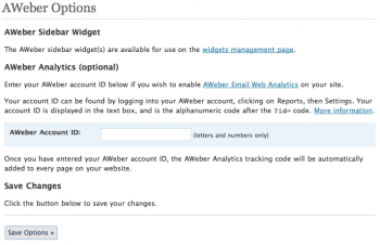Aweber Email Analytics Integration
