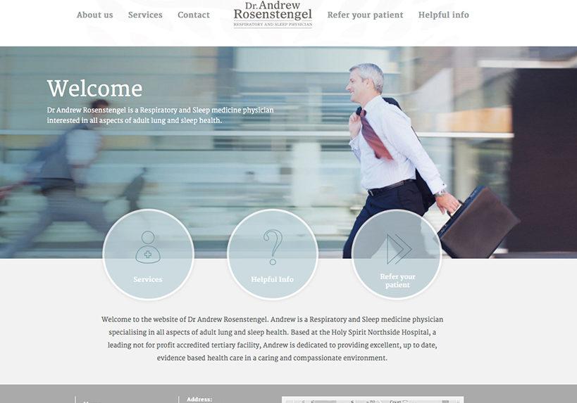 Dr Andrew Rosenstengel Medical Website Home