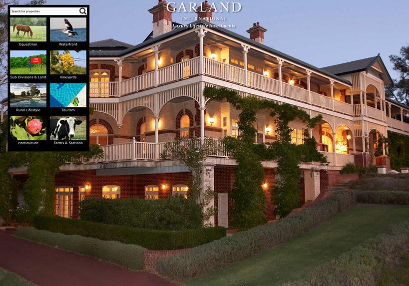 Garland International Real Estate Website Home